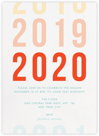 Rolling in the Years - Paper + Cup - New Year's Eve Invitations