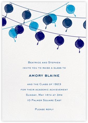 Lanterns - Blue - Paperless Post - Virtual Graduation Party Invitations