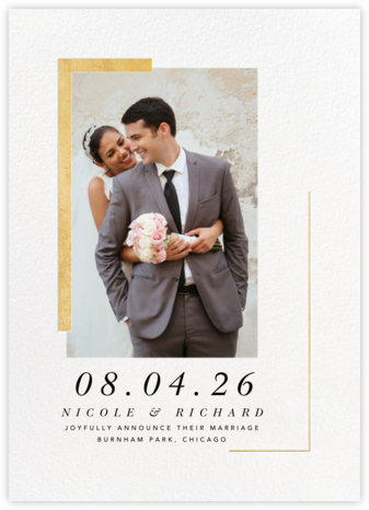 Ando Photo - Gold - Paperless Post - Wedding Announcements
