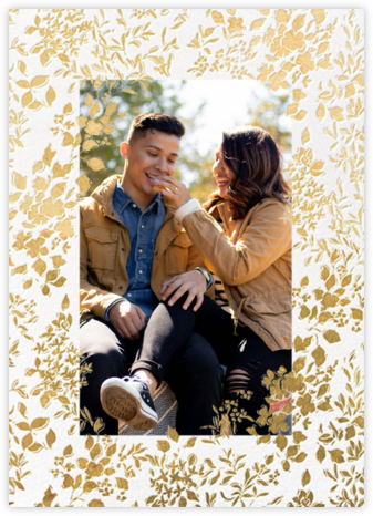 Richmond Park (Photo Invitation) - Gold - Oscar de la Renta - Wedding Announcements