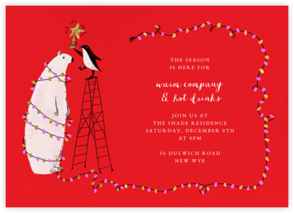 O Tannenbear (Horizontal) - Maracshino - Paperless Post - Christmas invitations