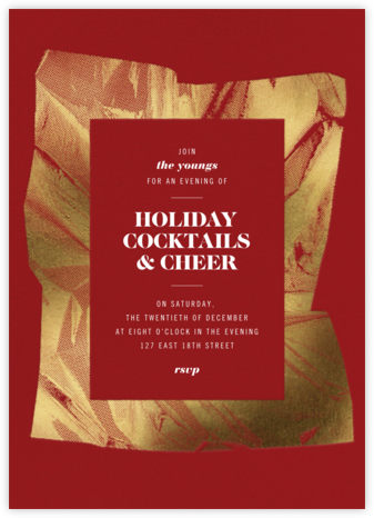 Unwrapped - Crimson - Paperless Post - Holiday invitations