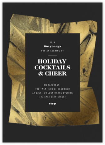 Unwrapped - Caviar - Paperless Post - Holiday invitations