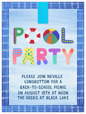 Pool Party - Paperless Post - Online Party Invitations