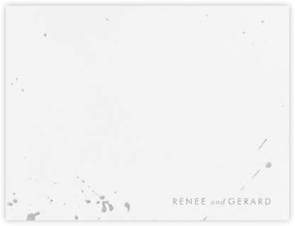 Splatter Cloth I (Stationery) - Platinum - Paperless Post - Personalized Stationery
