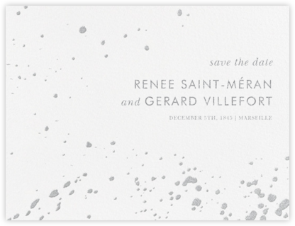 Splatter Cloth I (Save the Date) - Platinum - Paperless Post - Save the dates