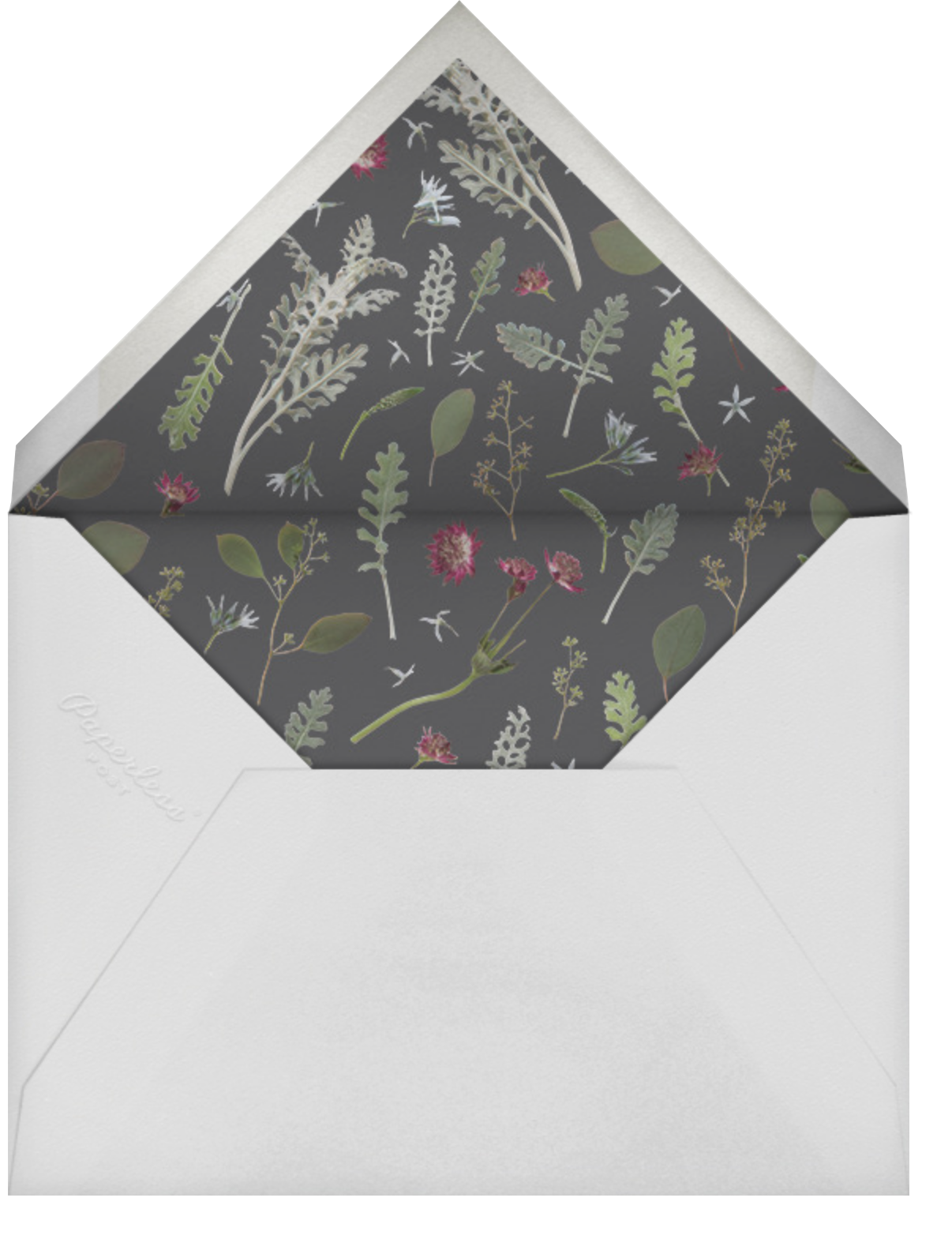 Winter Wilds - Paperless Post - Memorial service - envelope back