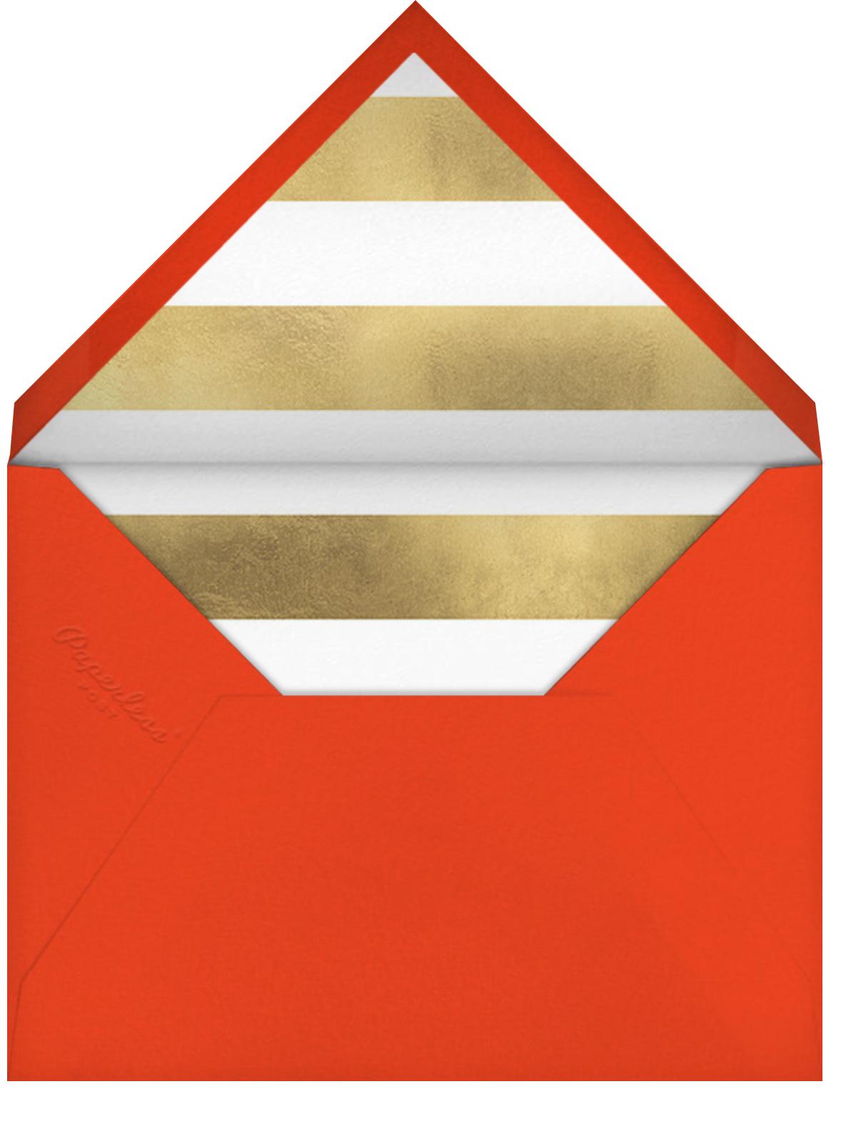 Golden Antlers - Meri Meri - Christmas party - envelope back