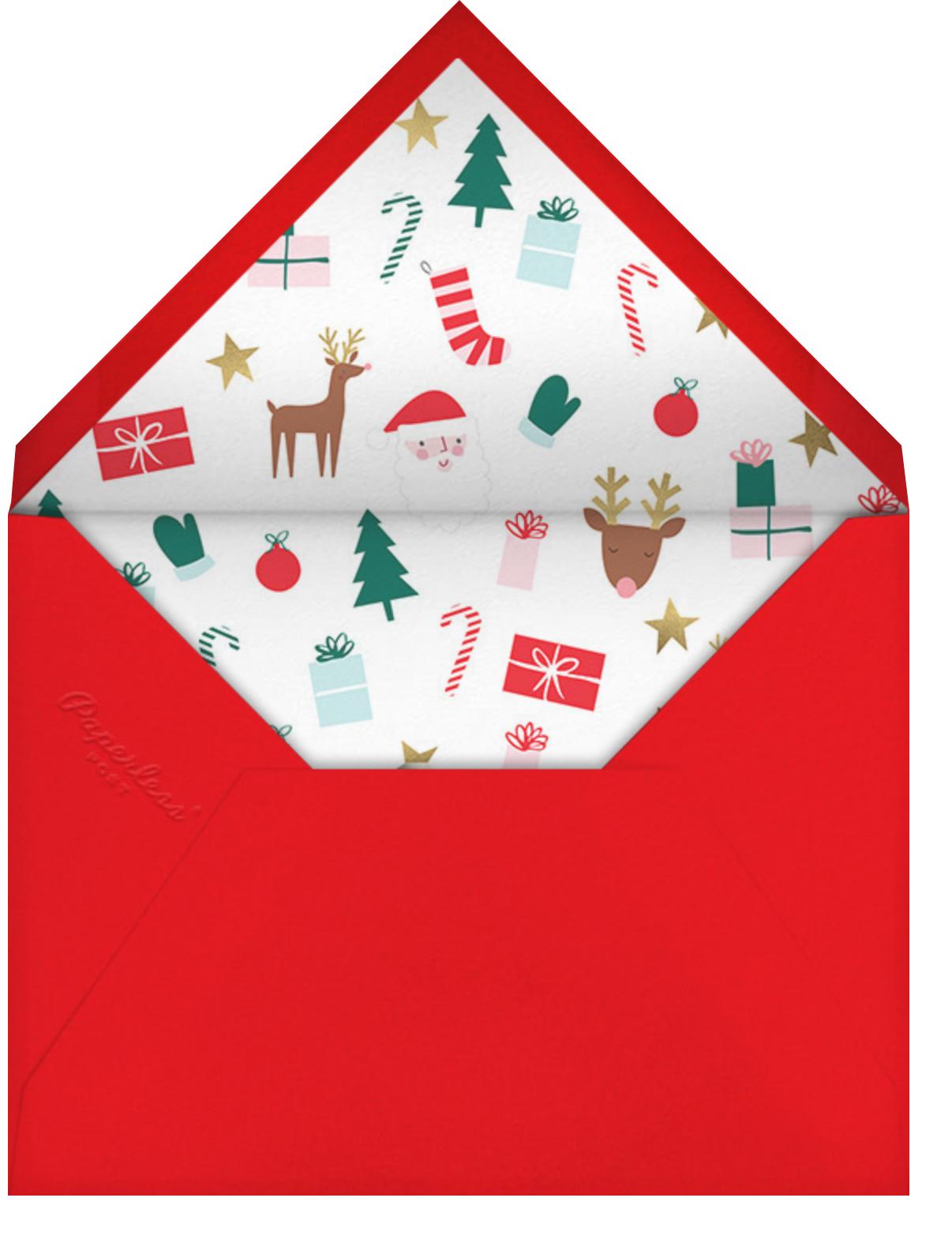 Nosy Reindeer - Meri Meri - Christmas party - envelope back