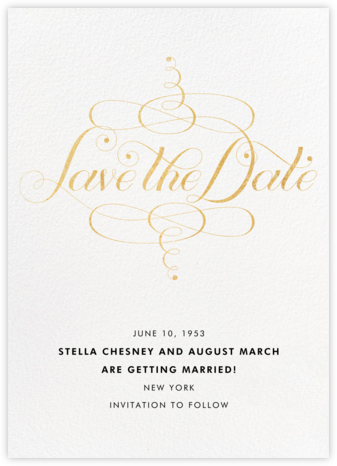Signum Save the Date - Gold - Paperless Post - Classic save the dates