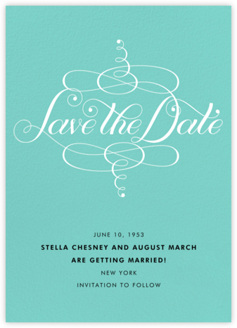 Signum Save the Date - Tiffany - Paperless Post - Save the dates