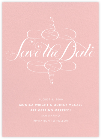 Signum Save the Date - Pavlova - Paperless Post - Save the dates