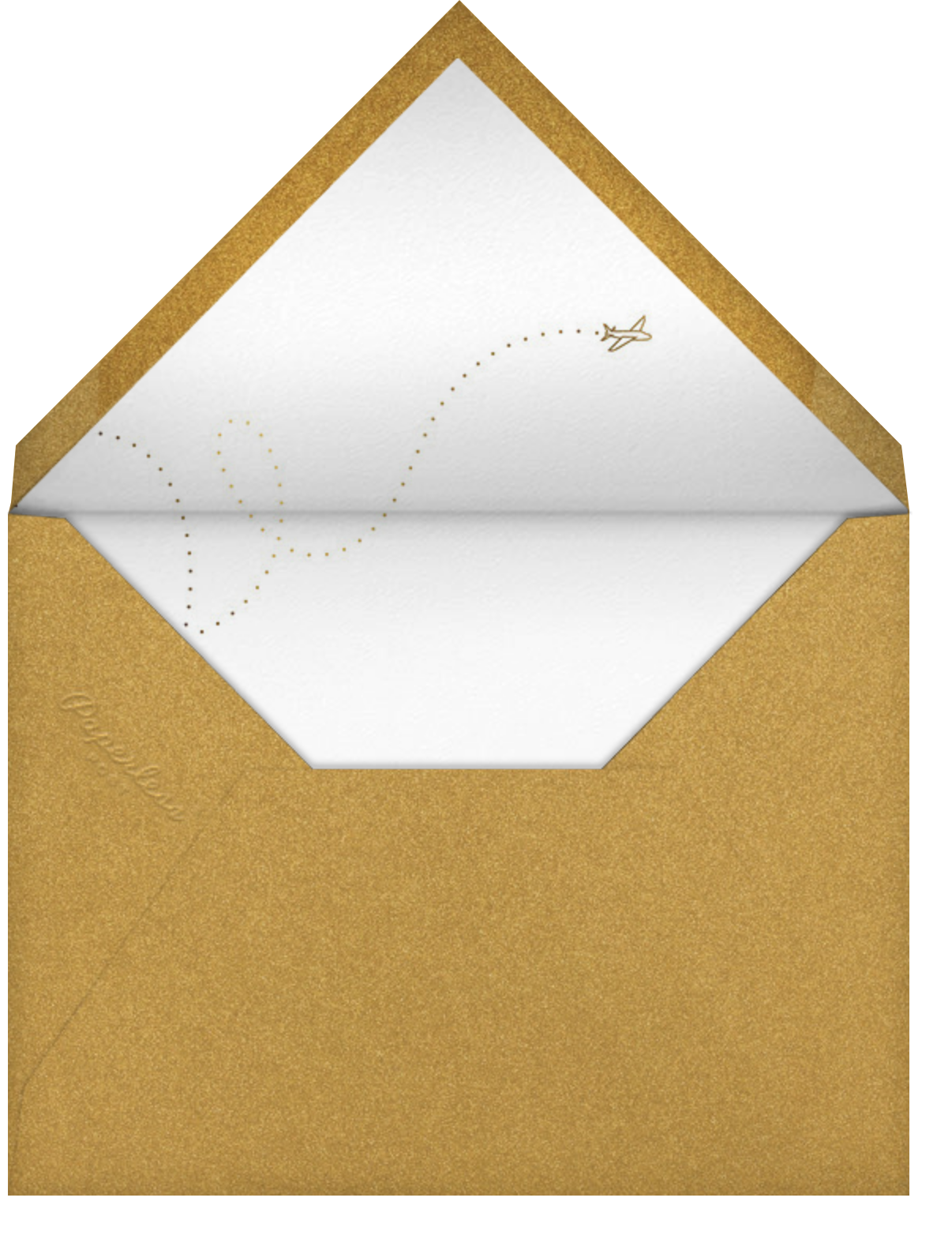 Aerogramme - Paperless Post - Gold and metallic - envelope back