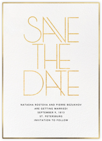 Rubell - Paperless Post - Gold and metallic save the dates