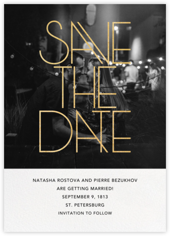 Rubell Photo - Paperless Post - Gold and metallic save the dates
