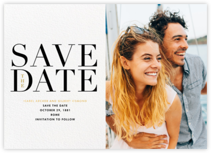 One Fine Date - Paperless Post - Modern save the dates