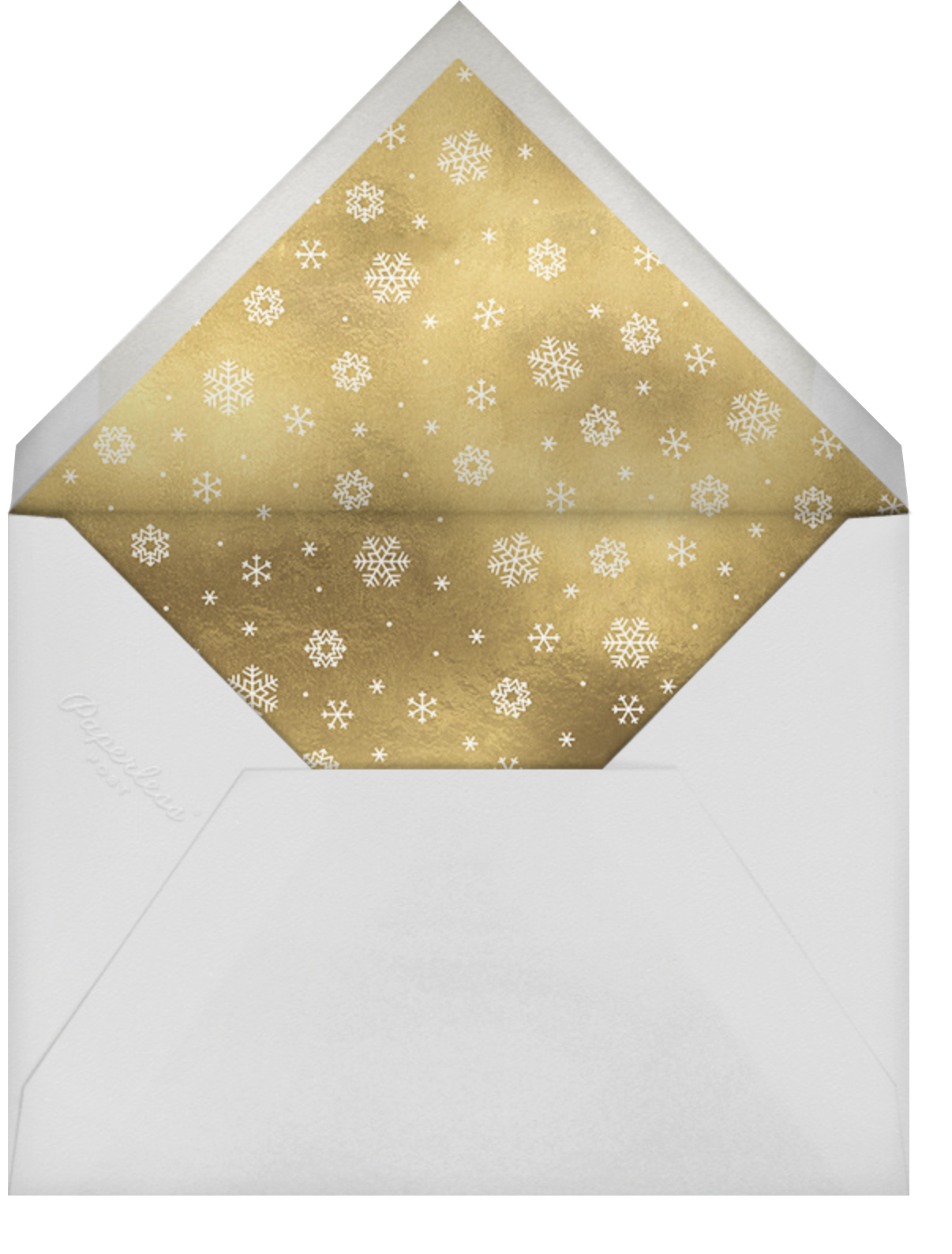 White Out (Tall) - Navy/Gold - Paperless Post - Winter entertaining - envelope back
