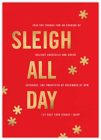 Sleigh All Day - Maraschino - Paperless Post -