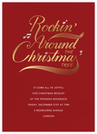 Christmas Party Hop - Crimson - Paperless Post -
