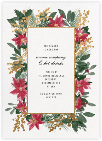Guirlande Rouge - Paperless Post - Holiday invitations