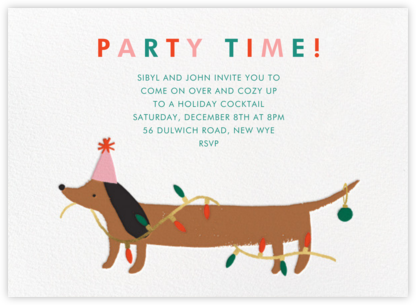 Seasonal Sausage - Meri Meri - Holiday invitations