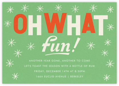 Twinkling Vintage - Paperless Post - Holiday invitations