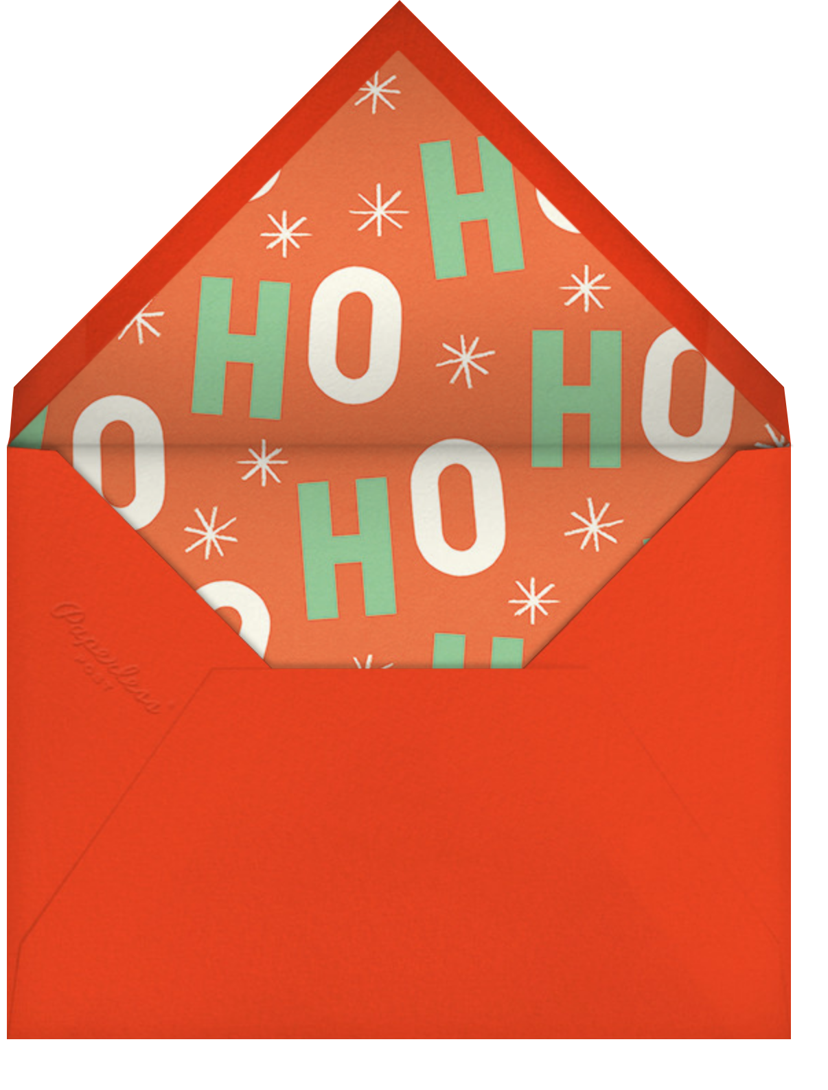 Twinkling Vintage - Paperless Post - Christmas party - envelope back