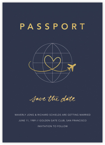 Passport to Romance - Paperless Post - Save the date cards and templates