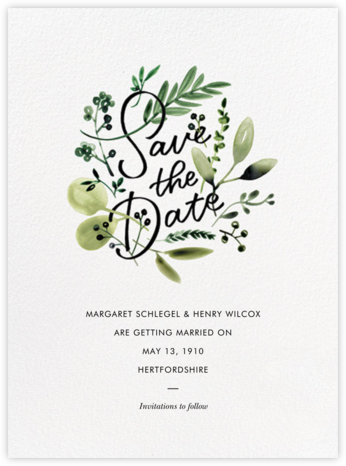 Mountain Greenery - Paperless Post - Save the date cards and templates