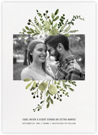 Mountain Greenery Inset - Paperless Post - Photo save the dates