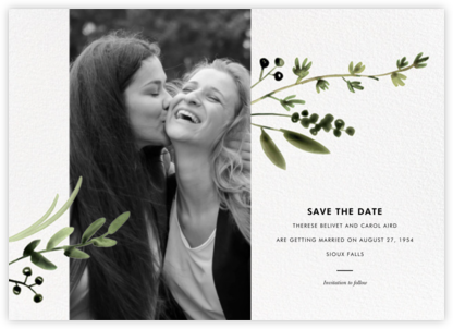 Mountain Greenery Portrait - Paperless Post - Modern save the dates