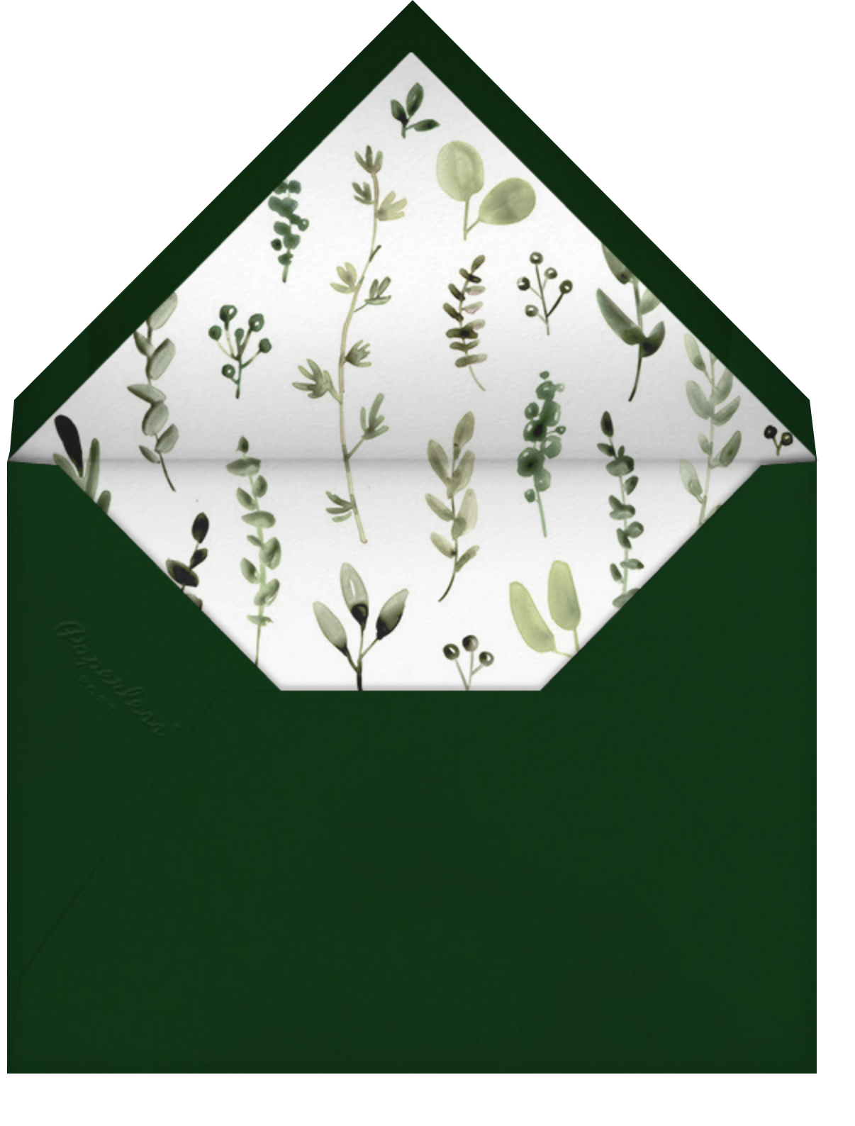 Mountain Greenery Portrait - Paperless Post - Photo  - envelope back