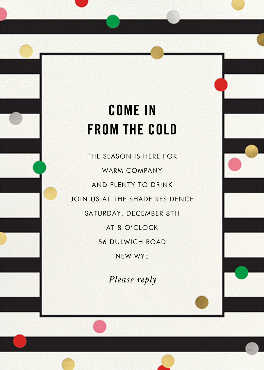 Confetti Stripes - kate spade new york - Kate Spade invitations, save the dates, and cards