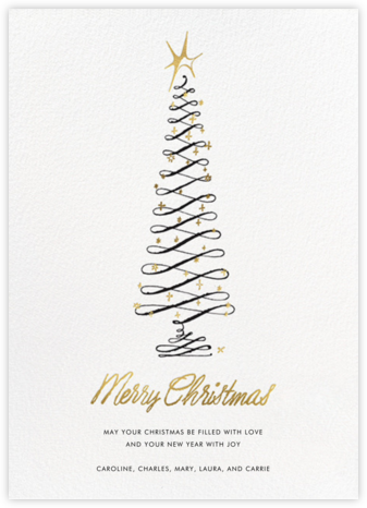 Curlicue Tree - kate spade new york - Holiday cards