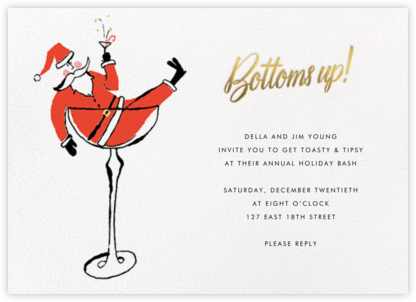 Tipsy Nicholas - kate spade new york - Christmas invitations