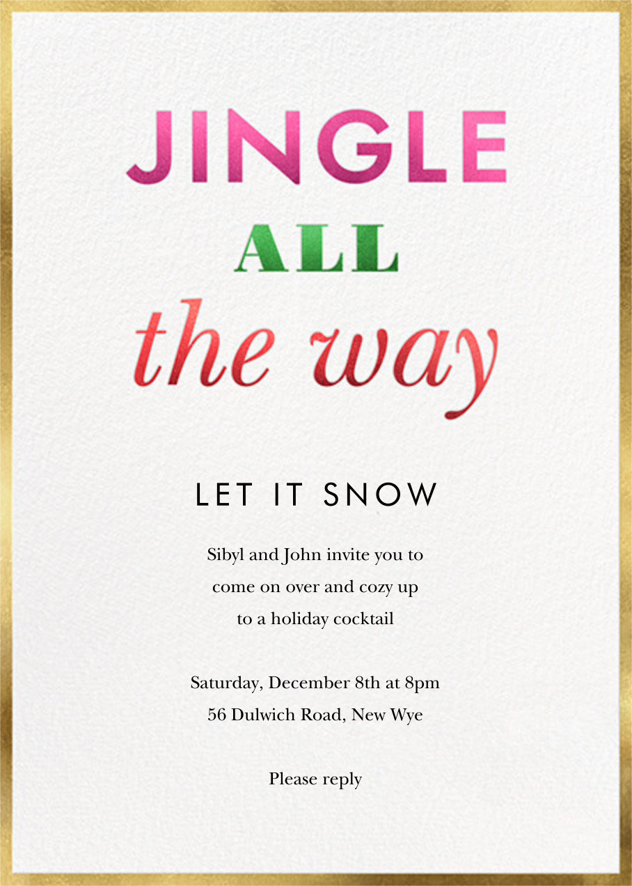 Jingle and Glow - kate spade new york - Kate Spade invitations, save the dates, and cards