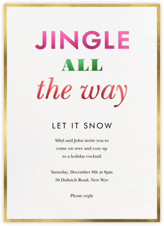 Jingle and Glow - kate spade new york - Holiday Invitations