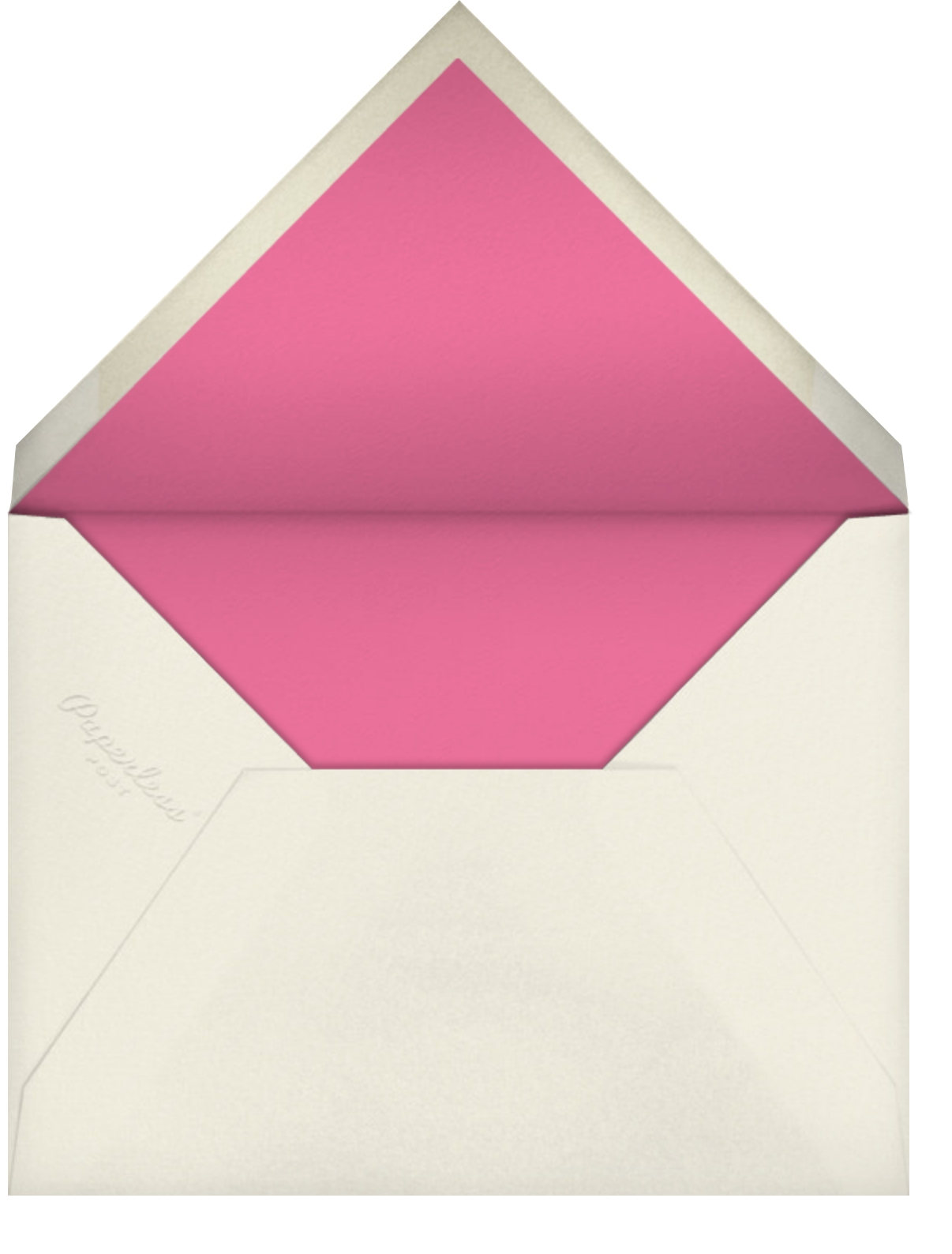 Glimmering Greetings - kate spade new york - Holiday cards - envelope back