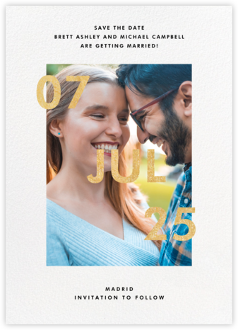 Opening Credits - Paperless Post - Modern save the dates