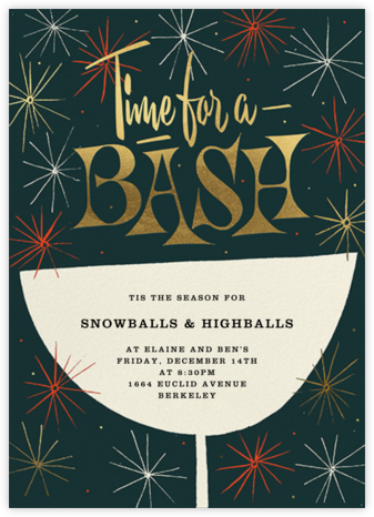 Sparkling and Swinging - Spruce - Paperless Post - Holiday invitations
