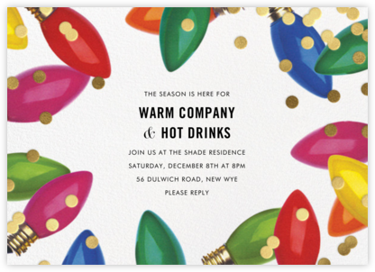 Confetti Bulbs - kate spade new york - Christmas Party Invitations