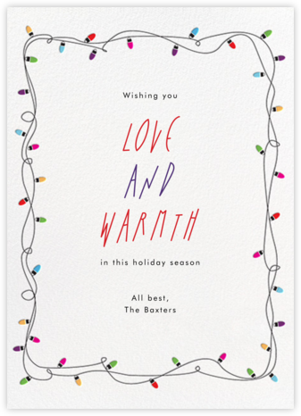 Holiday Lights - Paperless Post - Holiday Cards