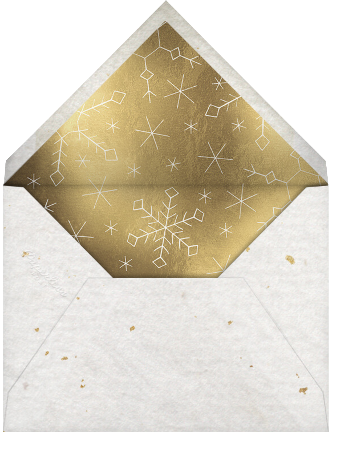 Vintage Flakes - Gold - Paperless Post - Holiday cards - envelope back
