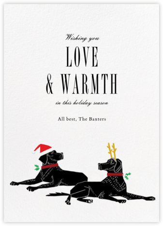 Christmas Labrador - Paperless Post - Holiday Cards