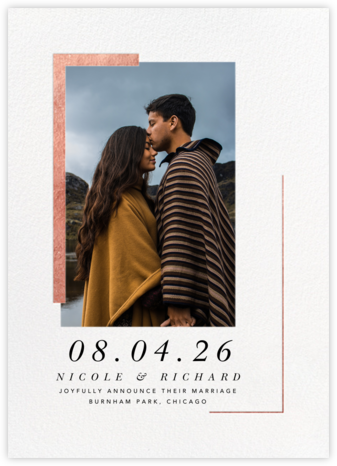 Ando Photo - Rose Gold - Paperless Post - Wedding Announcements