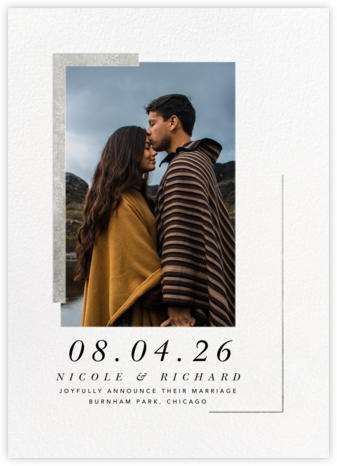 Ando Photo - Silver - Paperless Post - Wedding Announcements