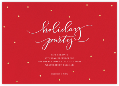 Holiday Dots - Red - Sugar Paper - Holiday save the dates