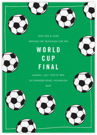 Futbol - Emerald - Linda and Harriett - Sporting Event Invitations