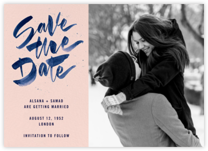 Johanna Photo - Meringue - Paperless Post - Photo save the dates