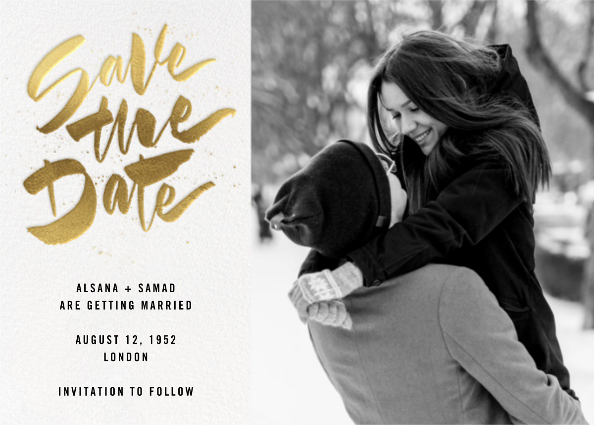 Johanna Photo - White - Paperless Post - Save the dates